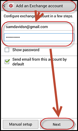 How to add ActiveSync® Account to Samsung Galaxy S3 and S4?