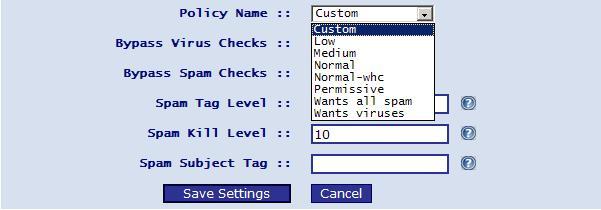 Spam Setting